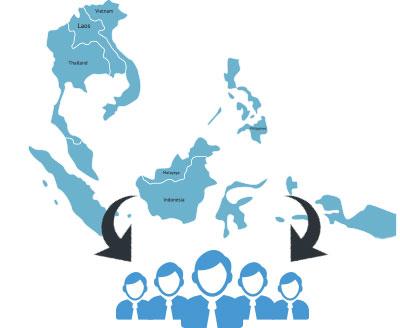アジア圏を中心して活動している外国人 をご紹介